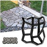YAOBLUESEA Gehweg Form Betonform von Gehwegen Schalungsform Gießform Plastikformen für Beton Gehwegplatten für Garten(42,5 x 42,5 x 4cm, in ABS)