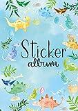 AVERY Zweckform 57793 Stickeralbum Dino, Stickerbuch leer, Album zum Sammeln, Sticker Sammelalbum blanko, Kindergeschenke, A5, 16 Seiten 1 Album für Kinder