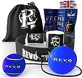 Revo Fight Aktualisiert Boxen Reflexball, Premium Kopfband + 2 Schwierigkeitsstufen Training Balls, Boxausrüstung für Kinder / Erwachsene zur Verbesserung der Reaktion, Schlaggeschwindigkeit