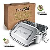 FIELVALD® Premium Edelstahl Brotdose (800ml) in umweltschonender & wiederverwendbarer Verpackung – Pflegeleichte & auslaufsichere Lunchbox – inkl. Ersatzdichtungsring – Ideal für Kinder & Erwachsene