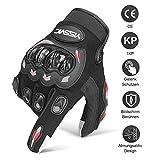 Yissvic Motorrad Handschuhe Motorradhandschuhe Touchscreen Sport Handschuhe für Motorrad Radfahren Camping Outdoor L (Verpackung MEHRWEG)