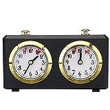 Schach-Timer, Professionelle Schachuhr Spieluhr Timer Analog Uhr Schach-Timer I-GO Countup Countdown Timer International Chess Timer Uhr, Schwarz , 15x5.5x9cm