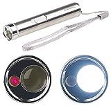 PEARL Pointer: 2in1-LED-Taschenlampe & Laserpointer, Edelstahl-Gehäuse, 15 Lumen (Mini Laserpointer)