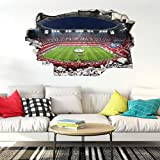3D Fußball Wandtattoo Fussball Tapete Fussballstadion FCB Bayern München Klebebilder für die Wand Dekoration 70 x 50 cm Wall-Art