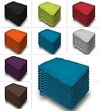 one-home 10er Set Waschhandschuhe Waschhandschuh Waschlappen 16x21 cm Frottee Baumwolle, Farbe:Petrol