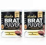 PAUDAR Bratpulver | Vegan, leicht dosierbar | 100 % pflanzlich, reduziert Fettspritzer, fettarme Zubereitung von Fisch, Fleisch, Gemüse [2 x 125g]