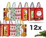 12x XXL Weihnachtstaschen Weihnachten Geschenktüten Weihnachtstüte Geschenktaschen für Geschenke (12x Geschenktüten Mix'Classic')
