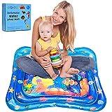 Wassermatte Baby,Baby Spielzeuge 3 6 9 Monate Aufblasbare Wasserspielmatte Baby mit beweglichen Schwimmelementen von Spielzeug Das Wachstum von Kindern Stimulieren Aufblasbare Babyspielzeug(100*80 cm)