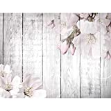 Fototapeten Blumen Grau 352 x 250 cm Vlies Wand Tapete Wohnzimmer Schlafzimmer Büro Flur Dekoration Wandbilder XXL Moderne Wanddeko Flower 100% MADE IN GERMANY - Runa Tapeten 9118011b