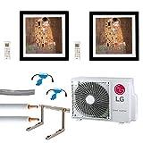 Klimaanlage Komplettset Multisplit LG Gallery Wandgeräte 1x2,6kW+1x3,5kW