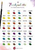 Mal-Meister 1xFarbkarte/Farbtafel/Farbtabelle, Farben mischen leicht und verständlich, Farbtrends – Einfaches und schnelles Ablesen von Farben
