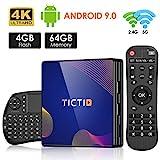 TICTID Android TV Box R8 Plus [4G+64G] Smart TV Box mit RK3318 Quad-Core unterstützt 4K/ 100M LAN/1080P/AV /H.265/WIFI 2.4G/5.8G