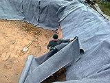 30 m² Teichvlies 500g/m² Rolle 2 x 15 Meter Schutzvlies Folienschutz für Teichfolie Vlies