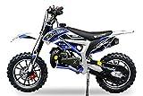 Neu Dirtbike Pocketbike Gepard Sport Edition Easy Starter Tuning Kupplung 15mm Vergaser Mini Cross Crossbike (Blau)