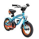 BIKESTAR Premium Sicherheits Kinderfahrrad 12 Zoll für Jungen ab 3-4 Jahre | 12er Kinderrad Cruiser | Fahrrad für Kinder Blau