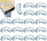 MEIXI Eckenschutz und Kantenschutz für Kindersicherheit, 20er-Pack Stoßschutz Transparent aus Silikon für Tisch und Möbel Ecken, Kantenschutz Stoßschutz für Babys und Kinder (L Form)