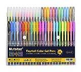 48 St¨¹ck Gelschreiber Gelstifte Set Inklusive Glitter Metallisch Pastell 4 Arten f¨¹r Zeichnen Schreiben Erwachsene und Malb¨¹cher by Mutsitz