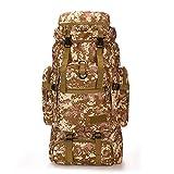 Poooooi Bergsteiger Rucksack Taktische Militärische Marschtasche Outdoor Camping Reisetasche 60L ~ 75L Trekkingstock Zelt Männer Und Frauen,Camouflage 02