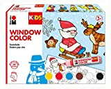 Marabu 306000000003 Kids Window Color Christmas 6 x 25 ml, bunt