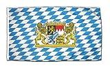Flaggenfritze Fahne Flagge Deutschland Bayern mit Löwe 30 x 45 cm