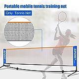 Tragbares, faltbares Tennis-Netz, tragbares Volleyball-Netz, Badminton-Netz für Außenbereich, Garten, Hof, Strand, Sport, Tennis-Trainingsnetz für Eingang, nicht null, Wie abgebildet, 3.1m