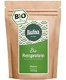 Reisprotein Bio 80% Protein (1kg) - vegane Proteinquelle - ohne Zusätze - Frei von Gluten, Soja und Lactose - Top Bio Qualität - Abgefüllt und kontrolliert in Deutschland (DE-ÖKO-005)