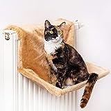 CanadianCat Company ® | Liegemulde für Katzen in beige ca. 45x26x31 cm Katzen Heizungs-Liege XL