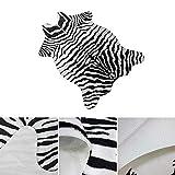 Umiwe Zebra-Teppich 3,6 x 2,4 Fuß (110 x 75 cm) Rutschfester Kunstpelz-Zebra-Druckbereich Teppichmatte-Teppich für Hauptschlafzimmer Wohnzimmerbüro