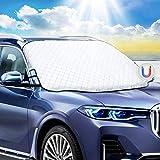 Favoto Auto Sonnenschutz Frontscheibe Windschutzscheiben Abdeckung Magnetische Faltbare Autoscheibenabdeckung Eisschutz Frontscheibenabdeckung UV-Schutz für Sommer Staub Schnee 183x116 cm
