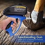1 Sandstrahlgerät, pneumatische Sandstrahlpistole mit kleinem Mund, Sandstrahler, Glassandstrahlpistole, Rostschutzpistole,Spindel Lock-Funktion