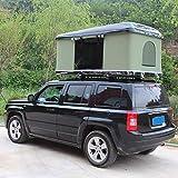 Fahrzeugzelt Harte Schale Dachzelt Autodachzelt 2-3 Leute, Mit Faltleiter aus Aluminiumlegierung, Grünes Zelt + Schwarze Schale