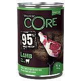 Wellness CORE 95 Prozent, Hundefutter nass, getreidefrei, hoher Fleischanteil, Lamm & Kürbis, 6 x 400 g