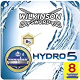 Wilkinson Sword Hydro 5 Rasierklingen für Herren Rasierer briefkastenfähig, 8 Stück