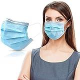 50 Stück Mundschutzmasken 3-lagig Mundschutz Gesichtsmaske Einwegmaske