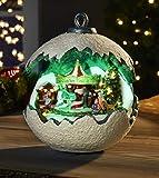 Winterwunder Kugel mit Karussell - weihnacht