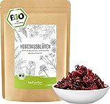 Hibiskusblüten BIO ganz und getrocknet 1000 g - Premium HIbiskus Tee - Hibiskusblütentee 100% natürlich aus biologischem Anbau - bioKontor