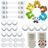 Meersee Star Baby Sicherheits Set, 42 Teile Set für Kindersicherung, 14 x Eckschutz, 14 x Steckdosenschutz, 6 x Finger-Klemmschutz, 4 x Schranksicherung, 4 x Universal Sicherung