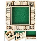Würfel, Familienspiel, 2–4 Spieler für Kinder & Erwachsene [4-seitiges großes Holzbrettspiel, 8 Würfel] Intelligentes Spiel Lernzahlen, Strategie & Risikomanagement für Kinder Erwachsene