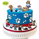 Paw Patrol Mini Figuren,12er Set, Geburtstags Party liefert Cupcake Figuren, Cake Topper, Party Kuchen Dekoration Lieferungen