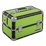 anndora Beauty Case Kosmetikkoffer Schmuckkoffer 21 L - Aluminium schwarz Grün Limette