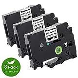 COLORWING kompatibel Schriftband Ersatz für Brother TZe-231 TZe231 TZ-231 TZ 12mm tape für P-Touch h105 h110 h100lb h110lb 1000W pt-1010 1090 1830VP 2030VP D400/ schwarz auf weiß 12mm x 8m laminiert
