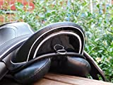 Tysons Breeches B- Ware Ledersattel Monoblatt Sattel 15 Zoll Minishetty Shetty Leder + Glitzer + Lack Dressursattel Ponysattel Strass (15 Zoll, Schwarz Weiß)