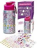 Purple Ladybug Dekoriere Deine Wasserflasche für Mädchen mit strassbesetzten Edelsteinaufklebern - BPA frei 0,60L Trinkflasche Edelstahl für Kids - Niedliches Geschenk für Mädchen, Bastelkunst