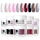UR SUGAR 5g Acryl Puder Nail Nackt Rot Farbe Dip System Acryl Nagel Pulver Natural Dry Dipping Nail Powder 10 Farben Kit
