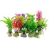 Künstliche Deko-Pflanzen für Aquarien, 10 Stück
