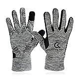 CATCH & KEEP® Handschuhe – Trainingshandschuhe für Jede Sportart - wärmende Trainingshandschuhe mit Smart-Touch-Funktion – Sporthandschuhe für Herren und Kinder (Grau, 8)