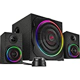 Speedlink Gravity Carbon RGB 2.1 Subwoofer System - Lautsprechersystem mit Bluetooth-Verbindung für Smartphone/Tablet - 120W Peak-Power, schwarz
