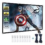 Powerextra HD 16: 9 271x154cm(120 Zoll) Projektion Leinwand - Keine Falte tragbare Tasche Projektionswand Unterstützung Doppelseitigen Projektion für Heimkino und Freiluftkino