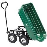 DRAPER Kippmulde-Gartenwagen mit Kippfunktion, grün