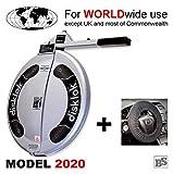 Disklok M 415 Silber inkl. Lenkrad-Schoner - Lenkradkralle und Airbagschutz für Lenkräder mit 38,6-41 cm ø (für Linkslenker EU ohne UK)